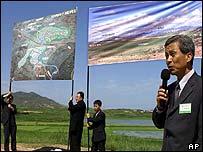 Hyundai president Kim Yun-kyu in Kaesong