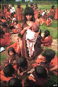 Ashaniki indigenous women liberated from the Shining Path in 1991