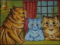 The Chairman Speaks by Louis Wain (used with permission of Cheffins auctioneers)