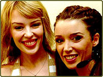 Sisters Kylie and Dannii Minogue