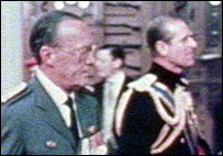 Bernhard with Prince Philip