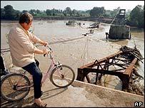 Wreckage of Varvarin bridge