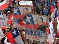 Manifestaci�n pro-Pinochet