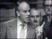 Bill Deedes addressing a Conservative Party conference in the 1960s
