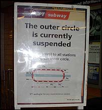 Tube off sign