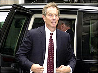 Tony Blair at the Hutton inquiry