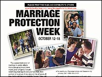 Marriage Protection Week poster