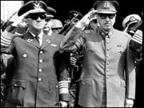 Augusto Pinochet y Gustavo Obit Leigh