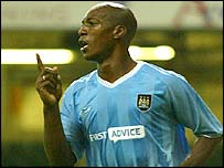 Man City goalscorer Christian Negouai