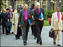 Anglican primates arrive for the meeting