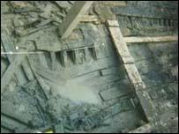 Gweddillion llong Casnewydd