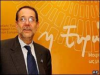 Javier Solana, jefe de la diplomacia europea.
