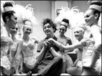 Ken Dodd prepares for the Ken Dodd Show in Blackpool, circa 1966