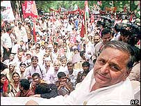 Mr Mulayam Singh Yadav at a rally