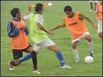 Tibetan footballers