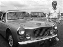 Giles Smith and a Gilbern car (pic courtesy of Gilbern Owners Club)