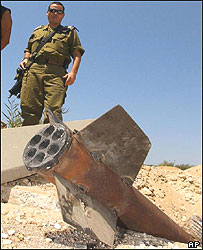 Qassam rocket near Ashkelon
