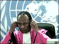 Judge Lloyd Williams of the International Criminal Tribunal for Rwanda