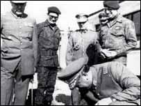 Militares chilenos con Pinochet