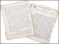 Conan Doyle manuscript