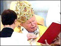 Pope at jubilee Mass