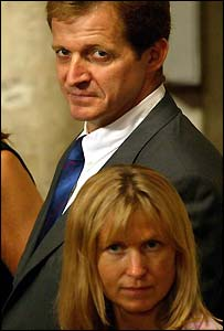 Alastair Campbell with his partner Fiona Millar