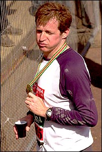 Alastair Campbell after 2003 London Marathon