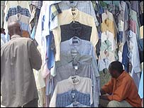 Tanzania second hand clothes stall
