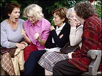Calendar Girls, with Helen Mirren (second left) and Julie Walters (centre)