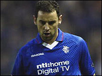 Kevin Muscat in action for Rangers