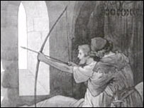 Artist's impression of Robin Hood's final shot