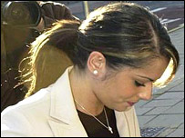 Cheryl Tweedy arrives at court on Thursday