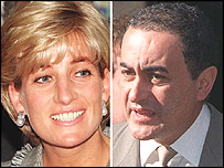 Diana Princess of Wales and Dodi Al Fayed