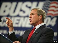 President Bush speaks at a campaign dinner in California