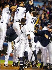 NY Yankees celebrate