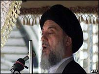 Ayatollah Hakim gives his final sermon, shortly before being killed in an apparent assassination