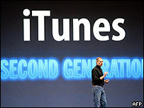 Apple iTunes' Steve Jobs at launch