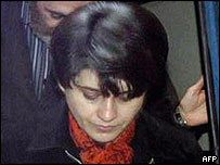 Leyla Zana arrives at a Turkish court for her retrial
