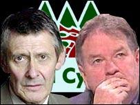 Cynog Dafis and Dafydd Iwan