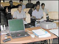 A Vanni Institute of Technology class in north-east Sri Lanka