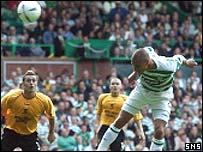 Henrik Larsson scores against Livingston