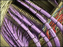 Cabling behind servers