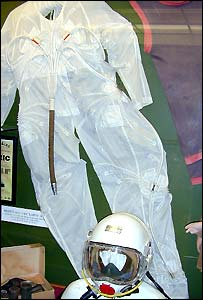 The original flightsuit and helmet - pic Inflight World