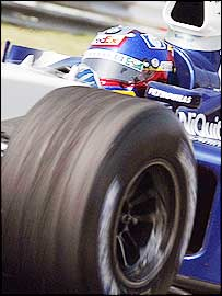 Juan Pablo Montoya in action in his Williams