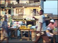 Lagos market scene