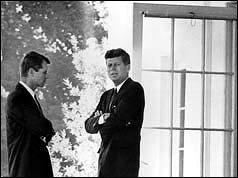 President Kennedy with his brother, Attorney-General Robert F Kennedy