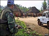 UN peacekeeper in Kachele