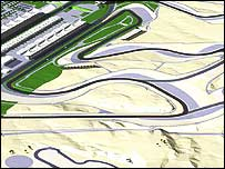 An artist's impression of Bahrain's new circuit