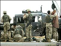 US soldiers south of Baghdad