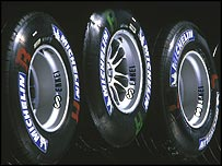 Michelin tyres in the F1 paddock